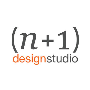 Photo of the n+1 design studio logo